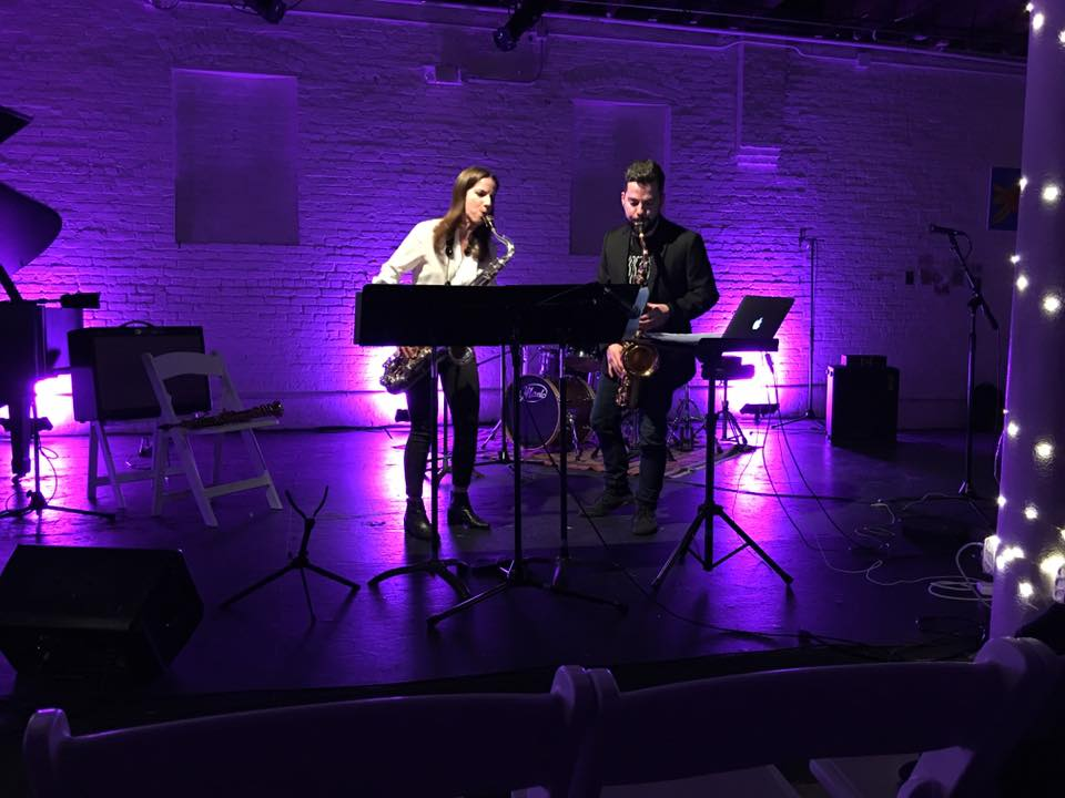 "Performing ""Karate"" by Alex Mincek with Geoff Deibel, Shapeshifter Lab, Brooklyn, March 28, 2016"