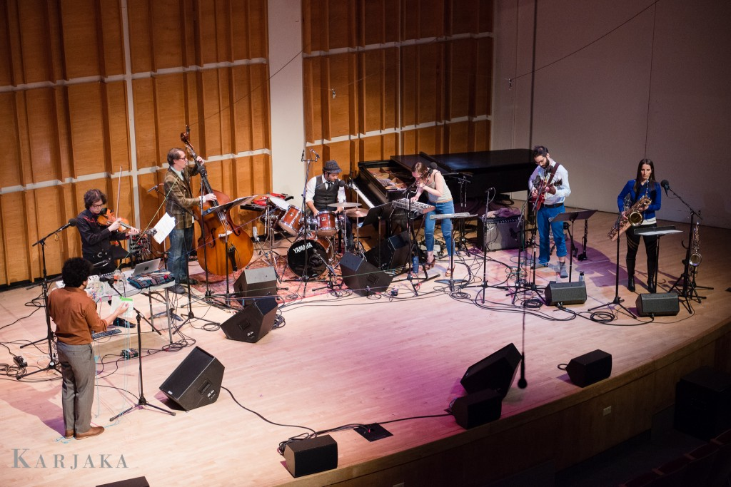 Brainfinger written/performed by Helado Negro & thingNY Ecstatic Music Festival February 18, 2015, Merkin Concert Hall, NYC photo: Aleks Karjaka
