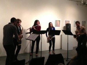 New Thread Quartet, Andrea Smith (flute) perform Mother Earth, Circuit Bridges, January 29, 2015, Gallery MC, NYC